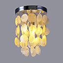 hesapli LED Şerit Işıklar-Sıva Altı Monteli Ortam Işığı Krom Deniz Kabuğu Mini Tarzı 110-120V / 220-240V Ampul dahil değil / E12 / E14