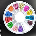 cheap Rhinestone & Decorations-36PCS Nail Jewelry Flower / Fashion Daily Nail Art Design