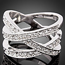 cheap Rings-Women's Statement Ring - Cubic Zirconia, Imitation Diamond Luxury, Fashion One Size Gold / Silver For Party