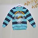 preiswerte Backformen-T-Shirt Gestreift Herbst Langarm Blau