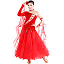 baratos Sapatos de Dança Latina-Dança de Salão Roupa Mulheres Tule / Veludo / Dança Moderna / Salão de Baile