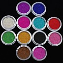 ieftine Glitter unghii-12 pcs Unghiul de bijuterii / Glitter & Poudre Fructe / Floare / Abstract Încântător Zilnic Nail Art Design / Desen animat / Punk