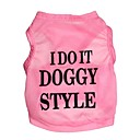 cheap Dog Clothes-Cat Dog Shirt / T-Shirt Dog Clothes Letter & Number Pink Terylene Costume For Pets