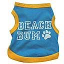billige Hundetøj-Kat Hund T-shirt Hundetøj Bogstav & Nummer Blå Bomuld Kostume For kæledyr Sommer