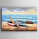 رخيصةأون تشمل الإطار الداخلي-النفط اللوحة الحديثة قوارب المشهد مرسومة باليد قماش مع متمدد مؤطرة