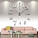 cheap Wall Stickers-Modern / Contemporary Stainless Steel Round Novelty Indoor / Outdoor,AA Wall Clock