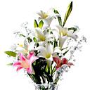 baratos Flor artificiali-Flores artificiais 1 Ramo Estilo Moderno Lírios Flor de Mesa
