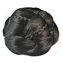voordelige Weaves van echt haar-Chignons Kinky krullen Knot updo / Gevlochten Clip-in Synthetisch haar Haar stuk Haarextensies Kinky krullen Dagelijks Natuurlijk Zwart