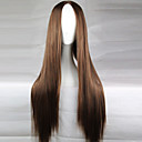cheap Synthetic Capless Wigs-Synthetic Wig Straight Asymmetrical Haircut Synthetic Hair Natural Hairline / Middle Part Brown Wig Women's Long Capless