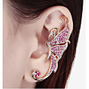 cheap Pins and Brooches-Women's Synthetic Diamond Ear Cuff - Rhinestone Butterfly, Animal White / Purple For Wedding / Party / Daily