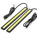 baratos Luzes de Circulação Diurna-SO.K 2pcs Lâmpadas 7 W COB 400 lm LED Luz Diurna For Universal Todos os Modelos Todos os Anos