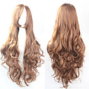cheap Synthetic Capless Wigs-Synthetic Wig Curly Asymmetrical Haircut Synthetic Hair Natural Hairline Brown Wig Women's Long Capless
