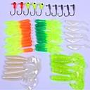 hesapli Balık Yemi ve Sineği-35+10 pcs Yumuşak Yem / Yem Paketleri / Olta İğneleri Yumuşak Yem / Jigler Yumuşak Plastik / Metal Deniz Balıkçılığı / Tatlı Su Balıkçılığı / Balık Yemi