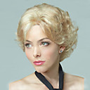 cheap Synthetic Capless Wigs-Synthetic Wig Curly Layered Haircut Synthetic Hair Natural Hairline Blonde Wig Women's Short Capless