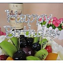 cheap Cake Toppers-Cake Topper Classic Theme Chrome Birthday / Baby Shower with Rhinestone / Bowknot 1 pcs PVC Bag