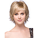 cheap Human Hair Capless Wigs-Human Hair Capless Wigs Human Hair Wavy Bob Haircut / Layered Haircut / With Bangs Side Part Short Capless Wig Women's