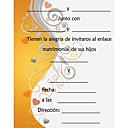baratos Camisas & Shorts/Calças de Ciclismo-Convites de casamento Cartões de convite Cartão Raso Personalizado
