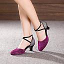 preiswerte Latein Schuhe-Damen Schuhe für modern Dance Paillette / Wildleder Absätze Schnalle Kubanischer Absatz Keine Maßfertigung möglich Tanzschuhe Fuchsia / Lila / Königsblau