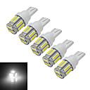 hesapli LED Ampuller-1.5W 300 lm T10 Dekoratif Işıklar 10 led SMD 7020 Serin Beyaz DC 12V