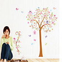cheap Wall Stickers-Floral/Botanical Wall Stickers Plane Wall Stickers Decorative Wall Stickers, Vinyl Home Decoration Wall Decal Wall