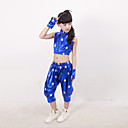 cheap Kids' Dancewear-Jazz Outfits Training Performance Polyester Pattern / Print Sleeveless Natural Top Pants Gloves