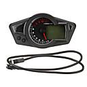 hesapli Motorsiklet ve ATV Parçaları-aydınlatmalı lcd dijital kilometre sayacı hız göstergesi takometre motosiklet