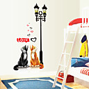 cheap Wall Stickers-Animals Romance Wall Stickers Plane Wall Stickers Decorative Wall Stickers, Vinyl Home Decoration Wall Decal Wall