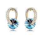 cheap Rings-Crystal Earrings - Vintage, Party, Cute Red / Blue / Pink For Party