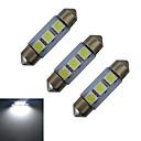 baratos Lâmpadas de LED-1W 60 lm Festoon Luz de Decoração 3 leds SMD 5050 Branco Frio DC 12V