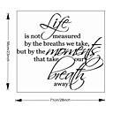 cheap Wall Stickers-Words & Quotes Wall Stickers Plane Wall Stickers Decorative Wall Stickers, Vinyl Home Decoration Wall Decal Wall Decoration