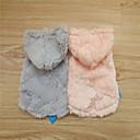 abordables Ropa para Perro-Perro Saco y Capucha Ropa para Perro Un Color Gris Rosa Material Mixto Disfraz Para Invierno