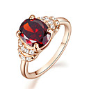 cheap Jewelry Sets-Cute Crystal / Synthetic Ruby Statement Ring - 1pc Four Prongs Vintage / Party / Casual Ring For