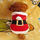 preiswerte Hundekleidung-Hund Kapuzenshirts Hundekleidung Weiß / Rot Terylen Kostüm Für Haustiere Herrn / Damen Weihnachten