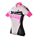 Χαμηλού Κόστους Μικροσκόπια και ενδοσκόπια-SANTIC Γυναικεία Κοντομάνικο Φανέλα ποδηλασίας - Ροζ Ποδήλατο Αθλητική μπλούζα, Υπεριώδης Αντίσταση, Αναπνέει Πολυεστέρας