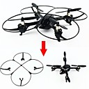baratos Walkie Talkies-RC Drone Attop YD928 4CH 6 Eixos 2.4G Quadcópero com CR Luzes LED Quadcóptero RC / Controle Remoto / Cabo USB