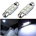 cheap Car Interior Lights-SO.K 2pcs Festoon Car Light Bulbs SMD 5630 6 Interior Lights