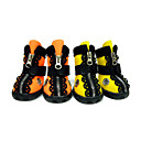 cheap Dog Clothes-Dog Boots / Shoes Waterproof Solid Orange Yellow For Pets