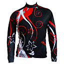cheap Cycling Jackets-GETMOVING Men's Cycling Jacket Bike Winter Fleece Jacket / Top Anatomic Design, Breathable Patchwork Black+Gloden Bike Wear