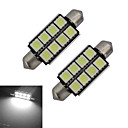 ieftine Becuri LED -2pcs 150-170lm Festoon Lumini Decorative 8 LED-uri de margele SMD 5050 Alb Rece 12V