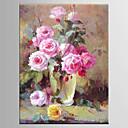זול ציורי סגנון חיים-מצויר ביד L ו-scape / פרחוני/בוטנימודרני פנל אחד בד ציור שמן צבוע-Hang For קישוט הבית
