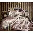 preiswerte Luxus Duvet Covers-Bettbezug-Sets Solide 4 Stück Polyester / Baumwolle Jacquard Polyester / Baumwolle 1 Stk. Bettdeckenbezug 2 Stk. Kissenbezüge 1 Stk.