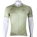 baratos Camisas Para Ciclismo-ILPALADINO Homens Manga Curta Camisa para Ciclismo - Verde Moto Camisa / Roupas Para Esporte, Secagem Rápida, Resistente Raios