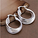 cheap Earrings-2pcs Women's Hoop Earrings - Sterling Silver Ladies Personalized Fashion Jewelry White For Wedding Party Daily Casual