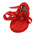 cheap Ballet Shoes-Women's Belly Shoes / Ballet Shoes / Yoga Satin Flat Ribbon Tie Flat Heel Non Customizable Dance Shoes Red / Brown / Indoor