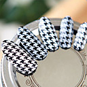 billige Heldekkende negleklistremerker-3D Negle Stickers Neglekunst Manikyr pedikyr Smuk Mote Daglig / 3D Nail Stickers