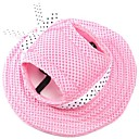 cheap Pet Christmas Costumes-Cat / Dog Bandanas & Hats Dog Clothes Solid Colored Pink / Stripe / White / Pink Fabric Costume For Pets Summer Men's / Women's Holiday /