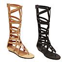 baratos Sapatilhas Femininas-Mulheres Sapatos Courino Primavera / Verão Salto Plataforma Preto / Dourado