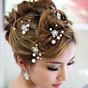 tanie Imprezowe nakrycia głowy-Akrylowy Szpilka do włosów z 1 Ślub / Specjalne okazje Winieta