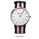 baratos Relógios da Moda-Homens senhoras Relógio de Moda Japanês Quartzo 30 m Relógio Casual Tecido Banda Analógico Casual Preta / Azul / Vermelho - Vermelho Verde Azul Um ano Ciclo de Vida da Bateria