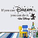 cheap Wall Stickers-Wall Stickers Wall Decals Style if You Can Dream It English Words & Quotes PVC Wall Stickers